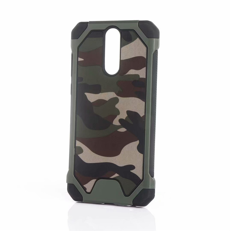 Nova 2I Camouflage Case For Huawei Mate 10 Lite Amo Army Armor Silicone Cases For Mate 10 Pro Hard Plastic+Soft TPU Back Cover