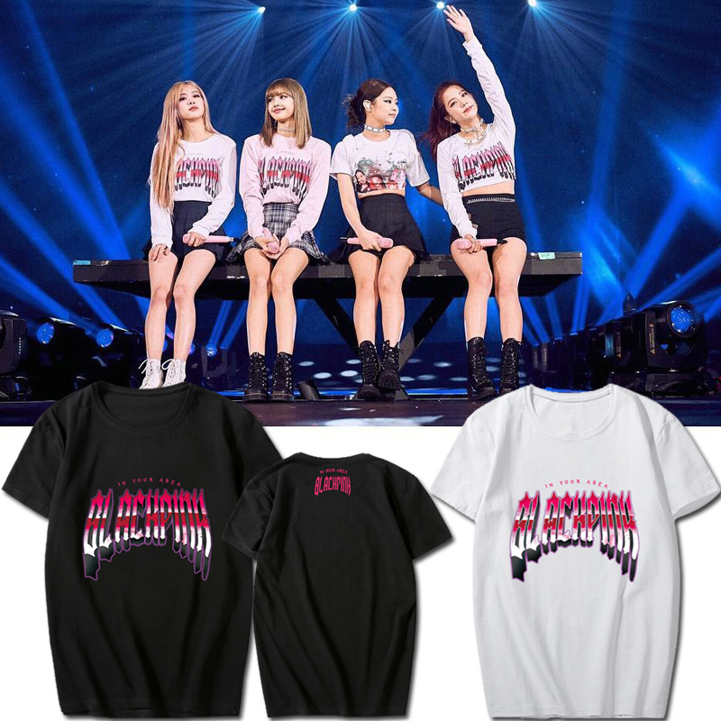 2019 Fashion Blackpink Women T Shirts New Summer Korean Version Of The Loose T-shirt Female Round Neck Printing T-shirt