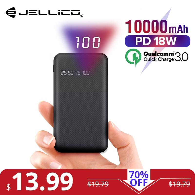 Quick Charge 3,0 Usb Power Externe Batterie üBerlegene Leistung Jellico 10000 Mah Power Bank Für Iphone Samsung Huawei Typ C Pd Schnelle Lade Handy-zubehör