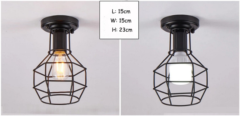 HTB1AtF2bsnrK1RjSspkq6yuvXXaK Modern nordic black wrought iron E27 led ceiling lamps for kitchen living room bedroom study balcony porch restaurant cafe hotel