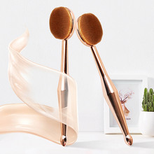 1 piezas maquillaje cepillo la nueva sirena maquillaje cepillo de La Fundación Oval cepillos cepillo de dientes de un conjunto de pinceles de maquillaje Fundación FD