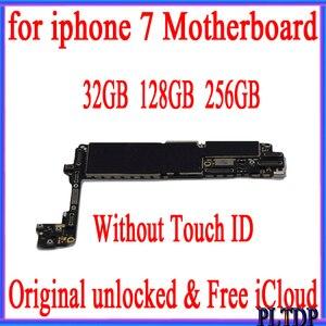 Image 1 - 32GB 128GB 256GB آيفون اللوحة بدون معرف اللمس 100% الأصلي مقفلة آيفون 7 4.7 بوصة اللوحة الرئيسية مع نظام IOS