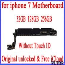 32GB 128GB 256GB dla iPhone płyta główna bez Touch ID 100% oryginał odblokowany dla iphone 7 4.7 cala płyta główna z systemem IOS