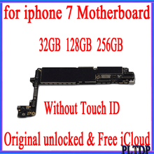 32GB 128GB 256GB for iPhone Motherboard without Touch ID 100% Original unlocked for iphone 7 4.7 inch Mainboard with IOS System
