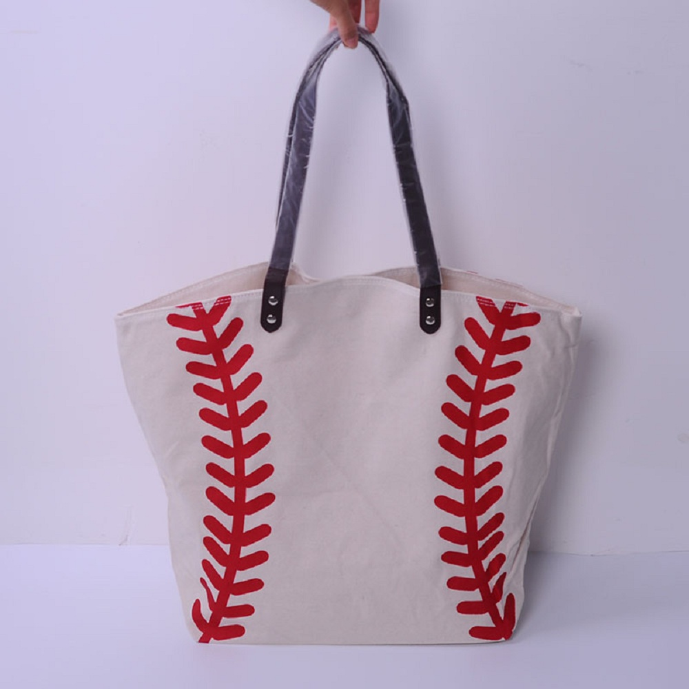 Wholesale Blanks Baseball Canvas Tote Bags Casual Softball Handbag With  Sporty Purse DOM103281 63b6c42dd792