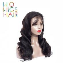 WoWigs волос 360 парики тела волнистые волосы человеческих волос парики