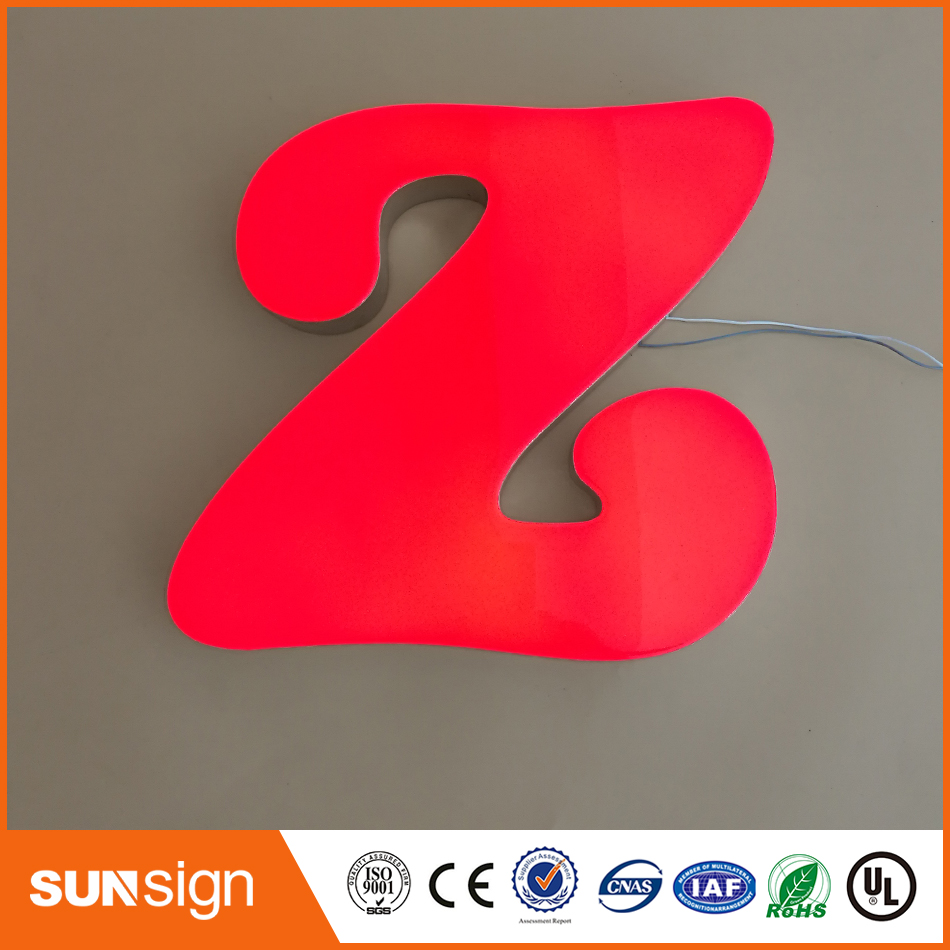 Custom Made Portable Commercial Advertising Signages Led 3d Epoxy Resin Channel Letter Sign