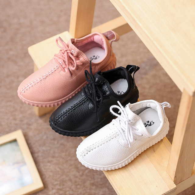 Girls And Boys Shoes Baby Yeezy Sneakers Air Yeezy Kids Female Child Girls Leather Sport Shoes Chaussure Enfant Tubular Shoes