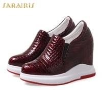 SARAIRIS 2018 High Quality Large Size 31 40 Wholesale Platform Elastic Band Woman Shoes Increasing Heels Vulcanize Shoes Woman