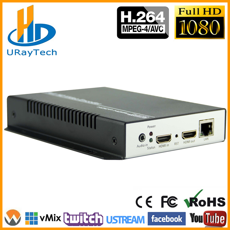 MPEG4 HDMI Vidéo Audio IP Codeur IPTV H.264 RTSP RTMP Codeur en direct pour IPTV, diffusion en direct Wowza Twitch Youtube Facebook Live