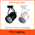 New 12W LED Track Light AC 85-265V Tracking Lights Background Lamp Lamps For Clothing store Bar shop showroom exhibition fixture