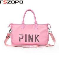 Pink Portable Outdoor Shoulder Bag Sport Gym Bags For Women Men Fitness 2018 Waterproof Sport Duffle Bags