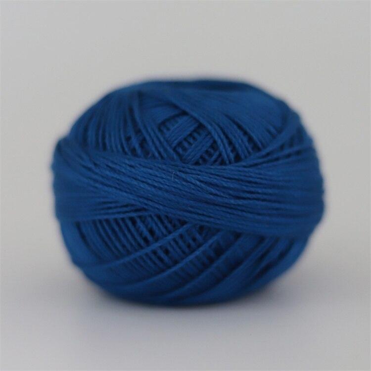 Размер 3 хлопковая Жемчужная Нить египетская длинная Штапельная хлопковая пряжа газированная двойная мерсеризованная 6 нитей плетение 50 грамм на шарик - Цвет: 707