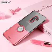 Xundd Luxury Transparent PC For Samsung Galaxy S9 Plus / S9 Phone Case with Magnetic Metal Ring Holder stand function newest