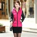 2016 Новая Мода теплый Зимняя Куртка женщины Толстые Горошек зимнее пальто женщин D825