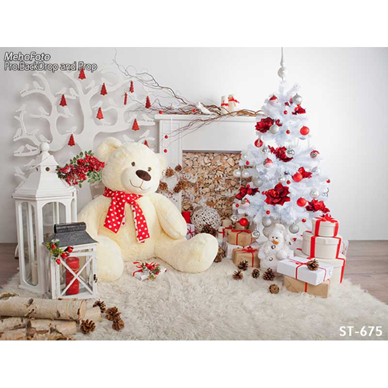 Christmas Theme photography backgrounds Vinyl cloth Photography Backdrops computer printing backdrops for photo studio ST-675