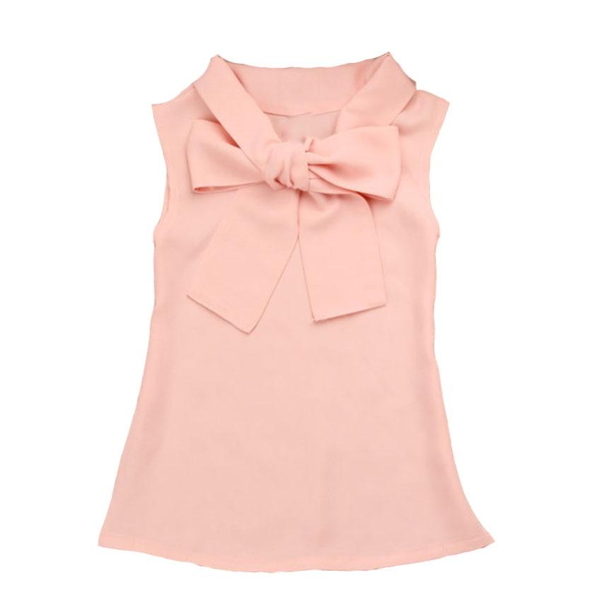Dívčí košile Pevné šifonové halenky pro dívky Školní oděvy - Dětské oblečení