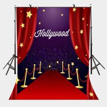 150x220cm Hollywood Awards Ceremony Backdrop Red Festive Photography Background