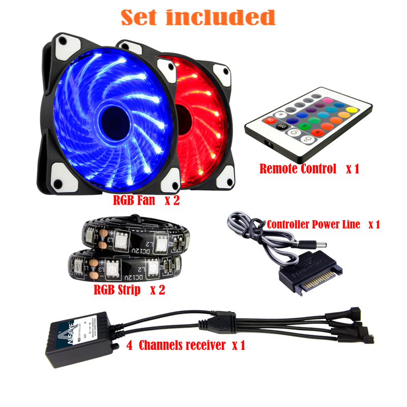 ALSEYE CLS-200 RGB ventilator 120 mm externe pc-ventilator RGB - Computer componenten - Foto 2