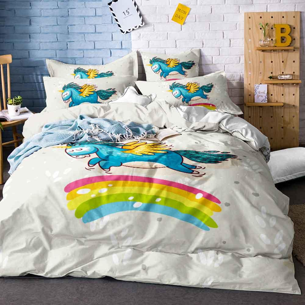 Home Textiles Unicorn Bedding Set Cartoon Single Bed Duvet