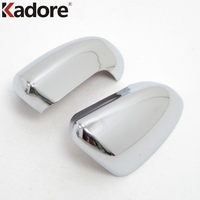 Car Styling For Nissan Qashqai 2007 2008 2009 2010 2011 2012 2013 ABS Chrome Side Door Rearview Mirror Cover Trim 2pcs/set