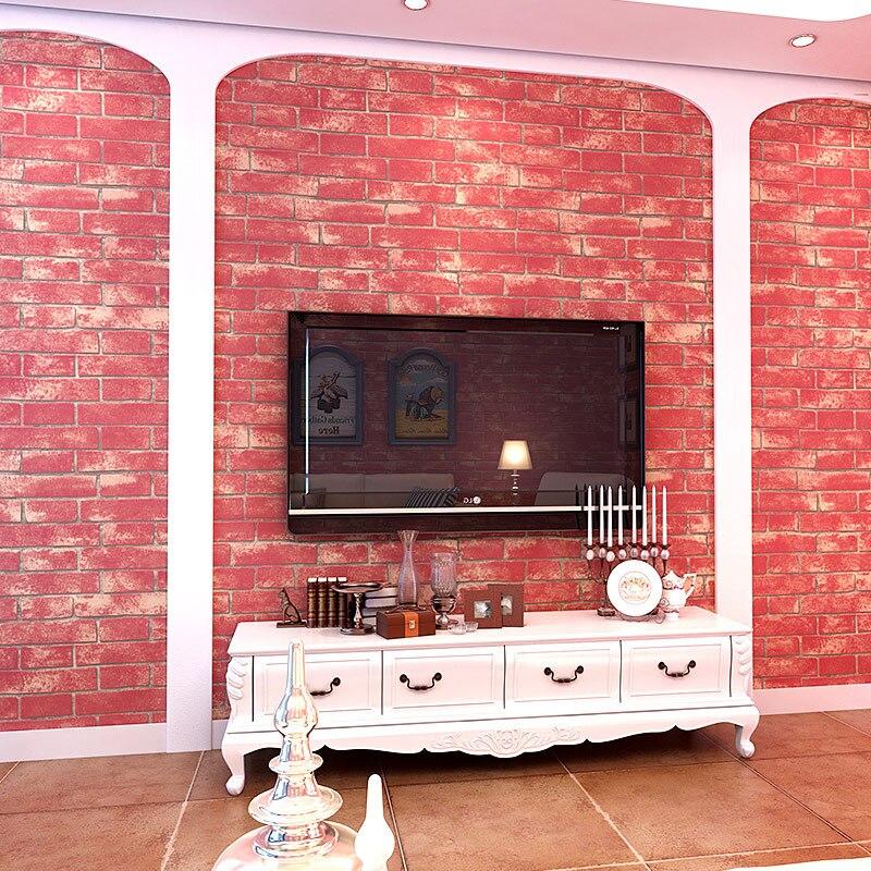 3D imitación ladrillo patrón papel pintado no tejido salón ...