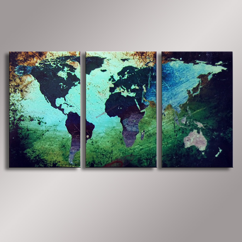 Buy world map painting oil painting 100 for Buy mural paintings