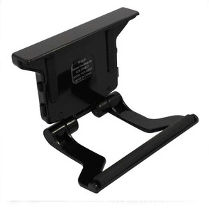 Image 5 - Zoom Play Range Reduction Lens Wide Angl Universal Adapter+Adjustable TV Clip Clamp Mount Stand For Xbox 360 Kinect Sensor