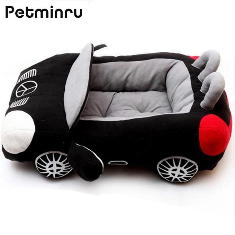 Petminru Auto A Forma di Pet Bed Dog House Cool Sports Piccola Casa Del Cane Del Gatto Caldo Morbido Cucciolo Divani Tappeti Canile