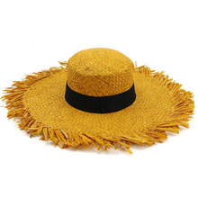 Handmade Raffia Sun Hats For Women Summer Straw Lady Travel Outdoors Sunshade Hat Beach Cap Protection Collapsibl