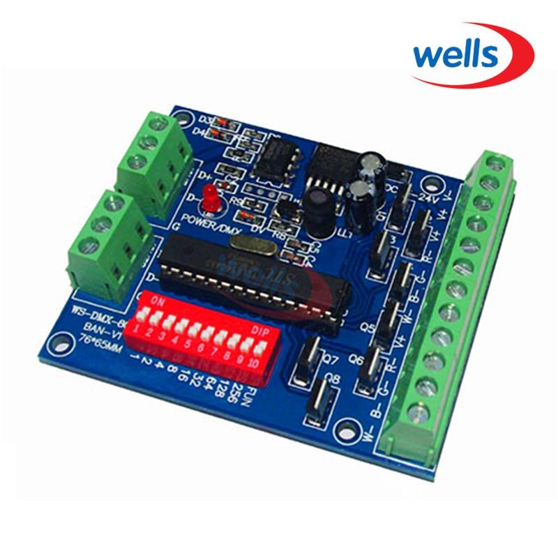Könnyű 8CH RGBW dmx512 dekóder, 8CH 2 csoportos RGBW kimenet, - Világítási kiegészítők