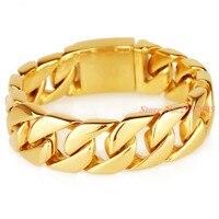 Punk Jewelry Men Bracelet Cuban Links & Chains Stainless Steel Bracelet For Men Male Accessory Wholesale