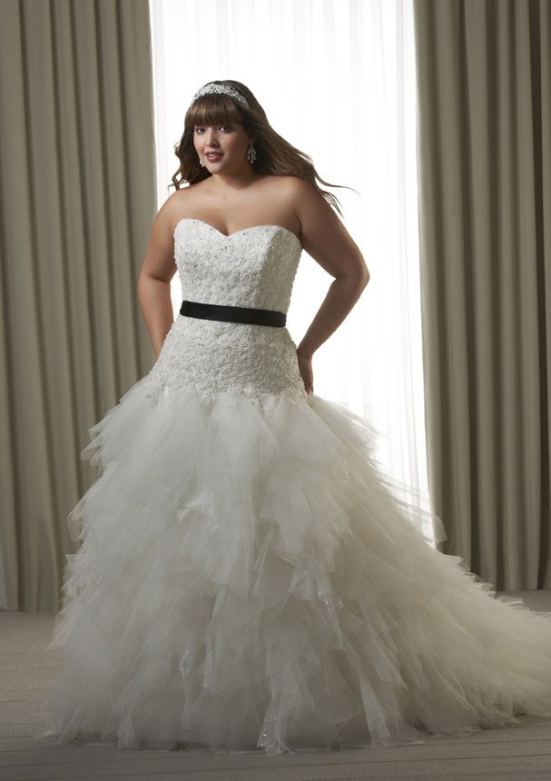 Online buy wholesale full figure wedding dress from china for Full size wedding dresses