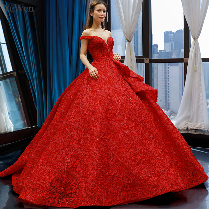 Red simple   Evening     dresses   long boat-neck sexy Robe de Soiree elegant A-line   Evening     dress   vestidos de fiesta de noche YM20273