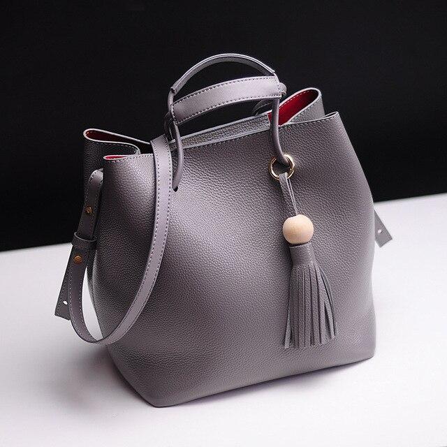 Натуральная Кожа Ведро Мешок-Первый Слой Кожи Корейский стиль Тенденция женщин сумки плеча Способа сумки посланник crossbody сумка