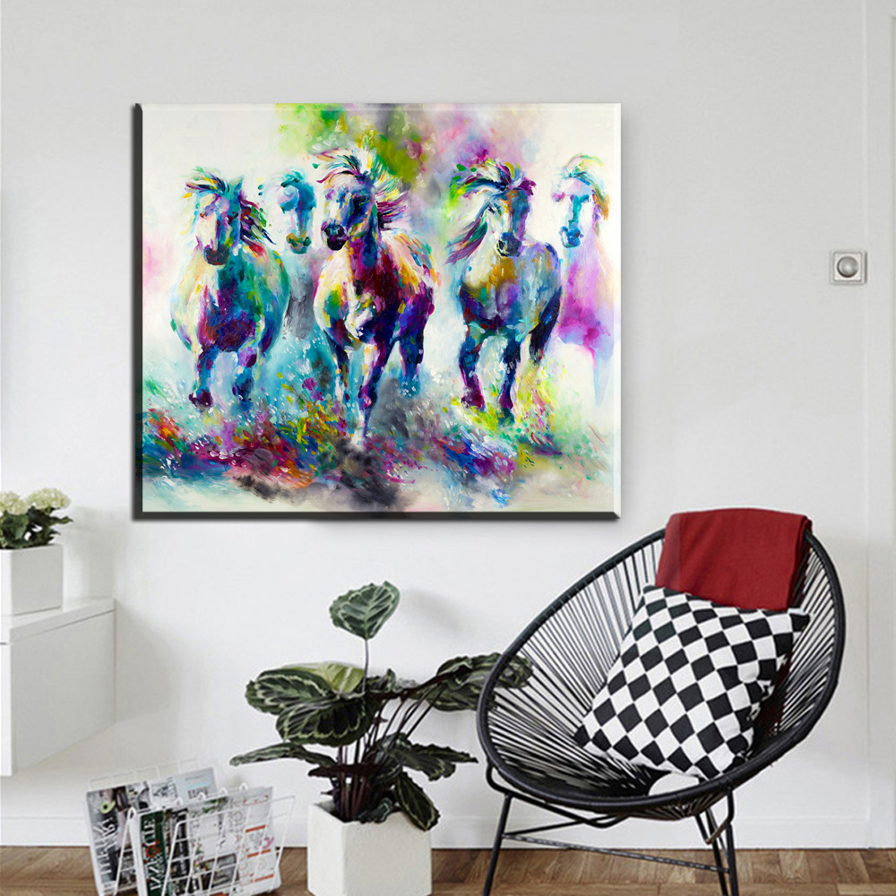 popular pop art elephant buy cheap pop art elephant lots from xdr421 hd print pop art watercolor animal oil painting on canvas abstract watercolor deer elephant wall