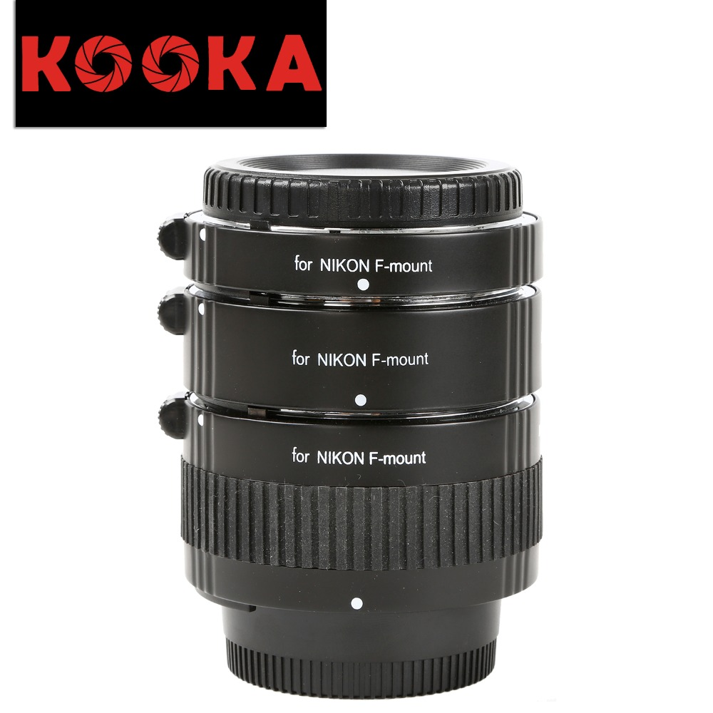KOOKA KK-N68 Copper AF Extension Tube Set with TTL Exposure Close-up Image for Nikon SLR Cameras (12mm 20mm 36mm) kooka kk c68p plastic extension tube set with auto focus ttl exposure for canon ef dslr cameras 12mm 20mm 36mm page 10