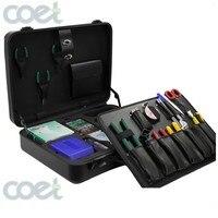 KOMSHINE KFS 35D 26pcs/FTTH Fiber Optic Tool Kit with FC 6S Optical Fiber Cleaver and Fiber Optic Stripper