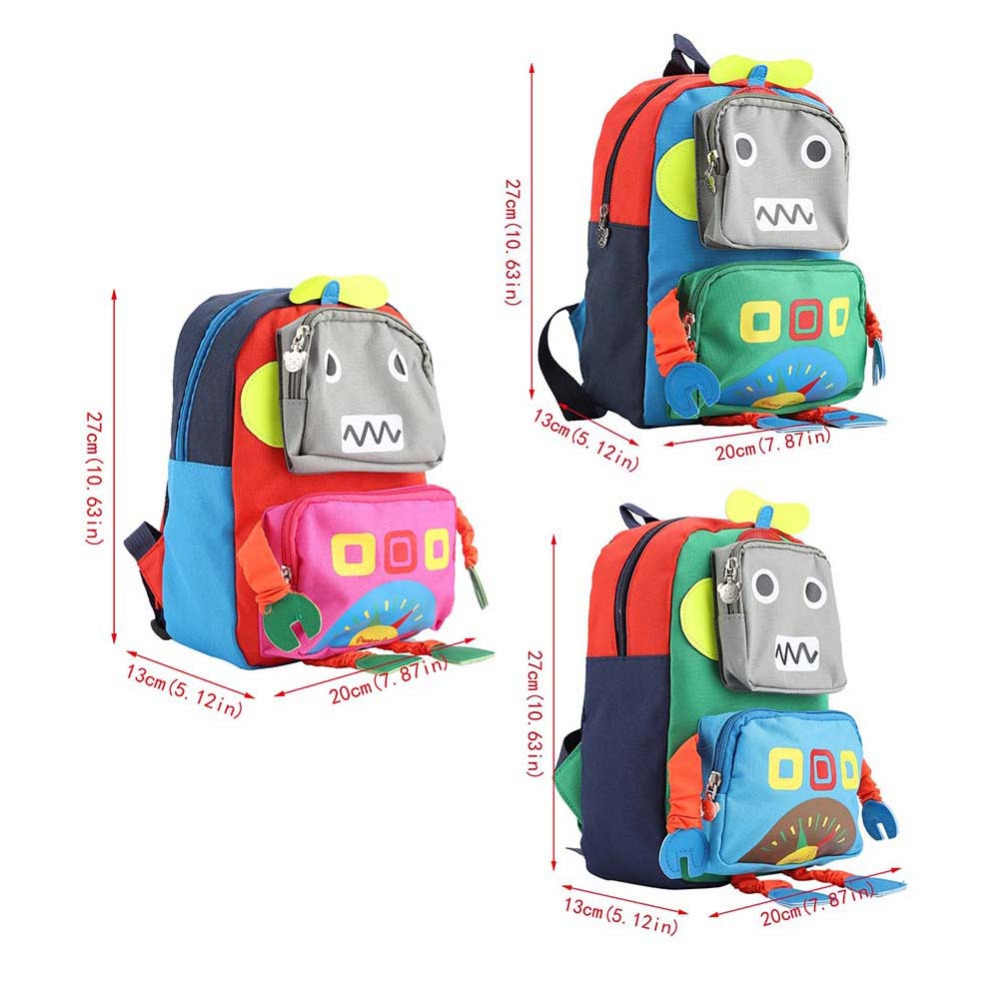 ... Kid Anti-lost Backpacks Baby Child Cute Toddler School Travel Bag  Cartoon 3D Robot Shape ... 7a8b7d3e90891