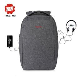 Tigernu New Arrival External Charging USB Laptop Backpack 15.6inch women men Mochila Splashproof Bag
