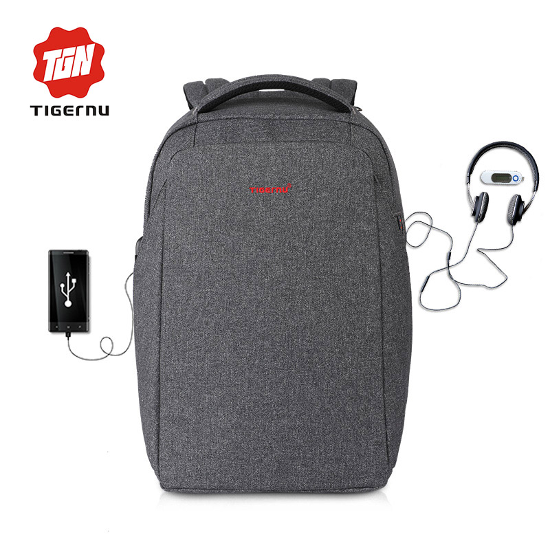 Tigernu New Arrival External Charging USB Laptop Backpack 15 6inch women men Mochila Splashproof Bag