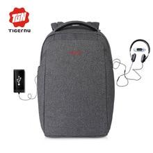 Tigernu neue ankunft externe lade usb laptop rucksack 15,6 zoll frauen männer mochila splash tasche