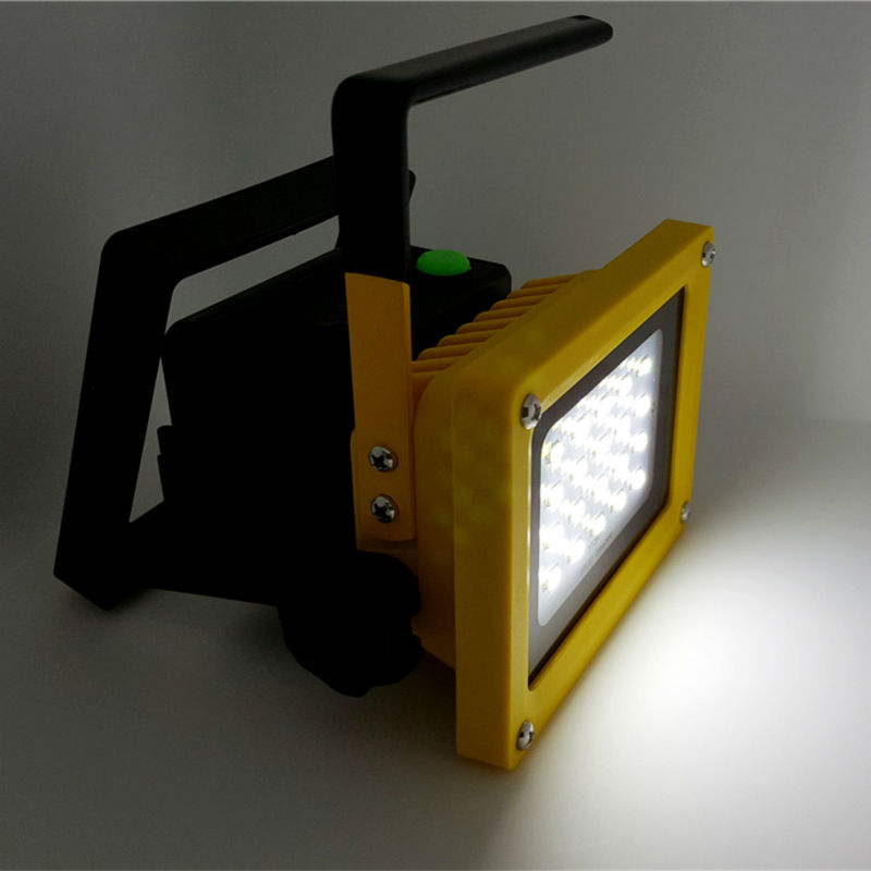 Portable 10w led flood light no 18650 battery rechargeable led portable 10w led flood light no 18650 battery rechargeable led floodlight reflector lamp outdoor waterproof ip65 lighting in floodlights from lights aloadofball Images