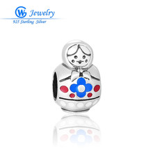 GW Jewelry 925 Sterling Silver Russia Baby Sets Charms Beads Fit Original Bracelets Bangles Jewelry Making(China)