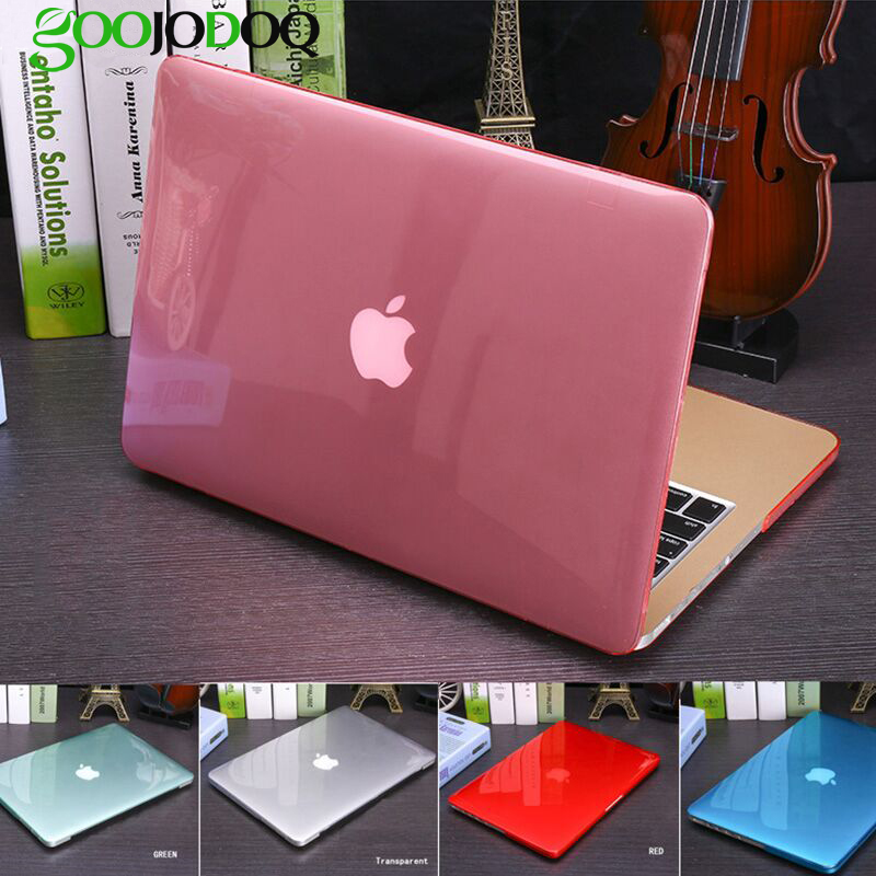 все цены на Laptop Case Cover for Apple MacBook Air 13 11 12 Pro 13 15 Retina 15 15.6 Laptop Case for Apple Macbook Transparent Crystal онлайн