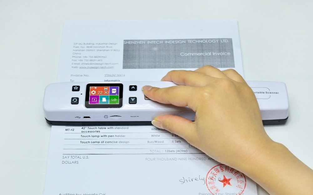 Portable Scanner A4 Size Document Scanner 1050dpi Jpgpdf Support 32g Tf Card Mini Scanner Pen With Wifi Function