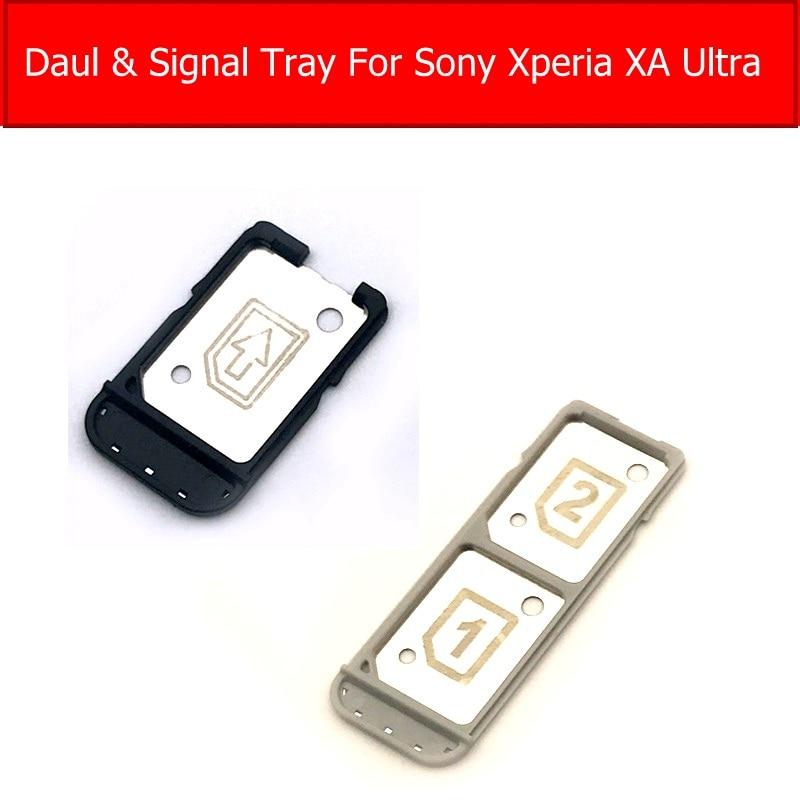 Single & Daul Sim Card Tray For Sony Xperia XA Ultra XAU C5 C6 F3215/16 E5563/33/06 SIM Card Socket Reader Adapter Repair Parts