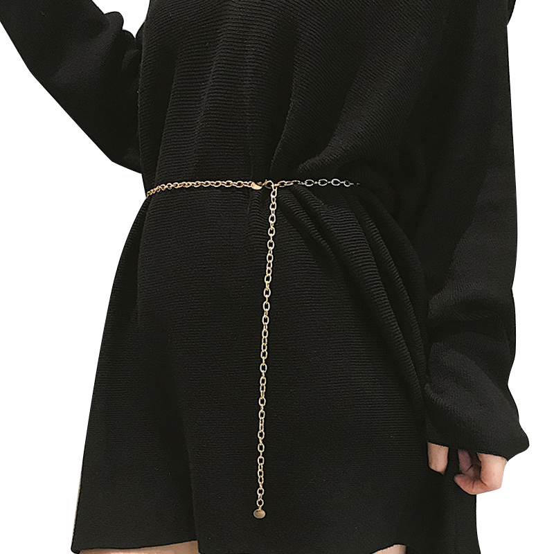 Женское тонкое платье с цепочкой женский золотой серебряный пояс на талию маленькая цепочка пояс Дамская кисточка блестки металлический пояс ketting riem 133