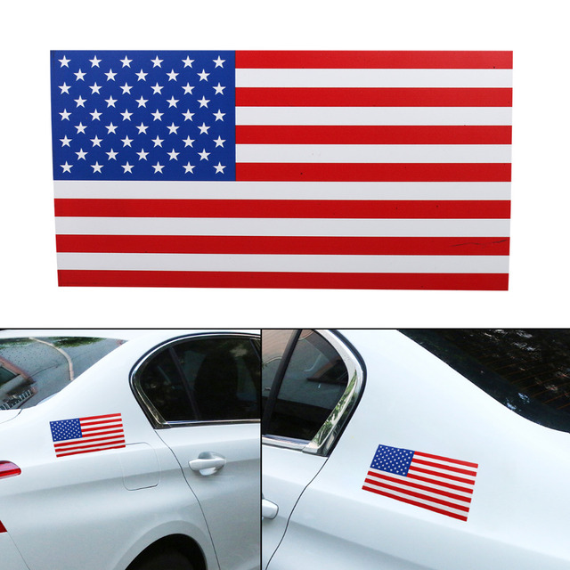 1x car rear american usa flag decals vehicle bumper sticker removable magnetic sign