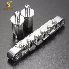 84mm Zinc Alloy Chrome Electric Guitar Tune-O-Matic Bridge with 2 Mounting Studs For Guitar Parts & Accessories